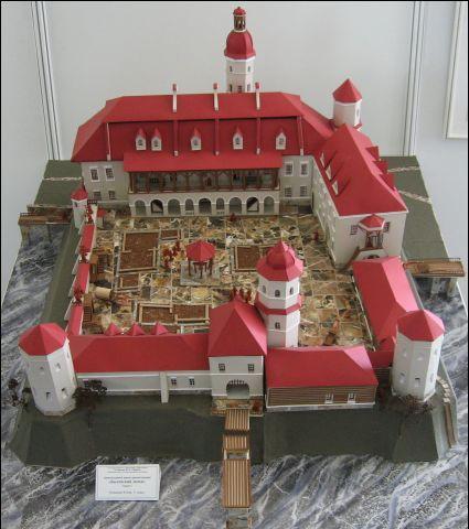 Макет Быхаўскага замка