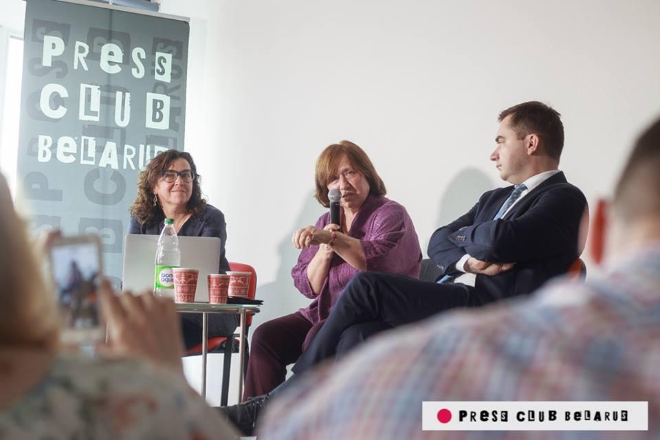 Светлана Алексиевич, Press Club Belarus