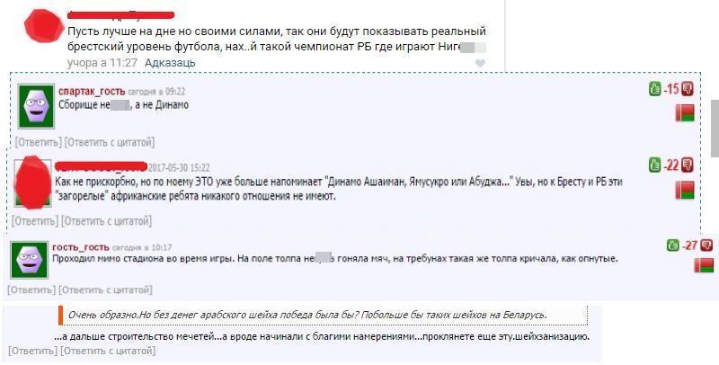 комментарии, Динамо Брест