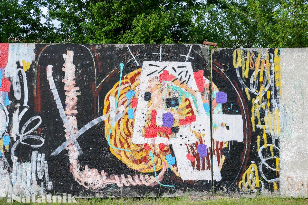 стрит-арт в Бресте, рисунок, стена, боль, забор, абстракция, цвет
