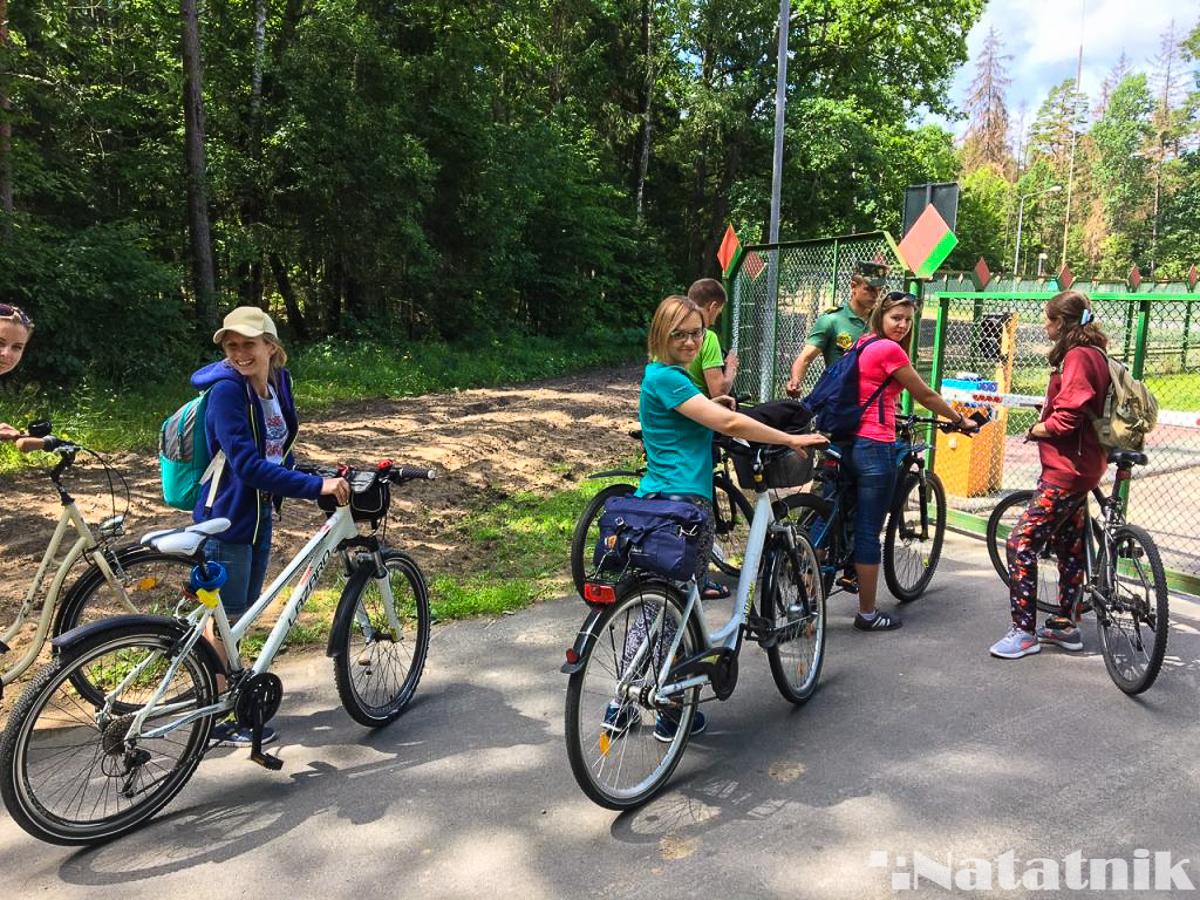 Беловежская пуща, Белавежская пушча, на велосипедах через границу, мяжа, Беларусь, Польша