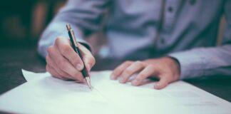 Письмо, ручка и листик