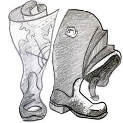 Сапоги, рисунок сапогов