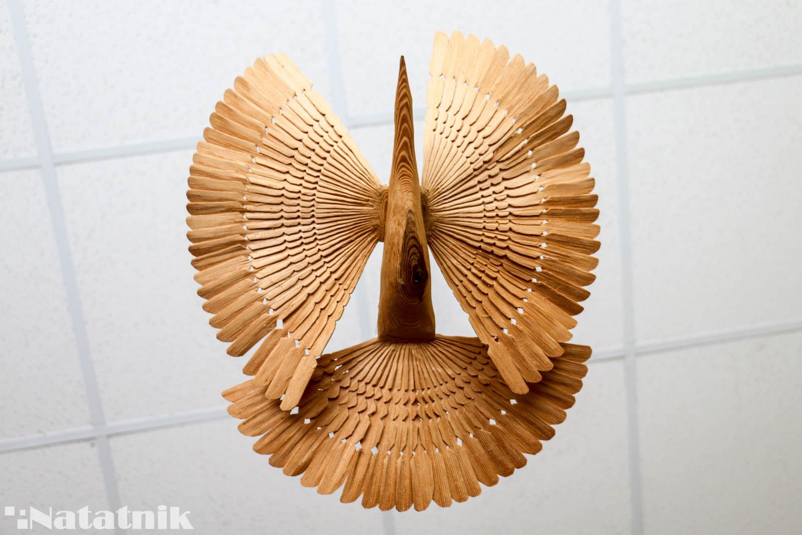 Берёза, центр ремёсел, изделие из дерева, щеповая птица, символ