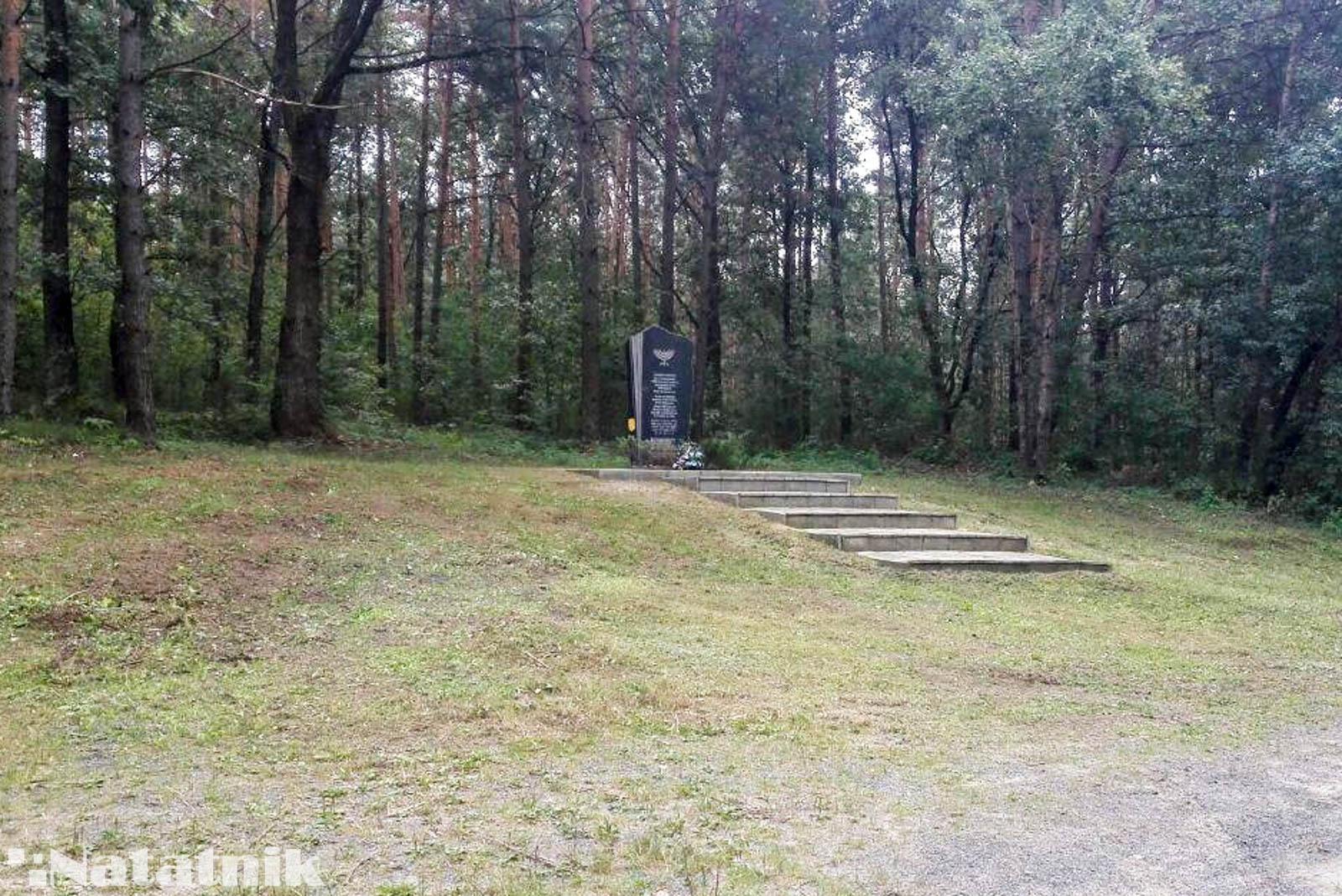 Берёза, Смолярка, место расстрела евреев, памятник