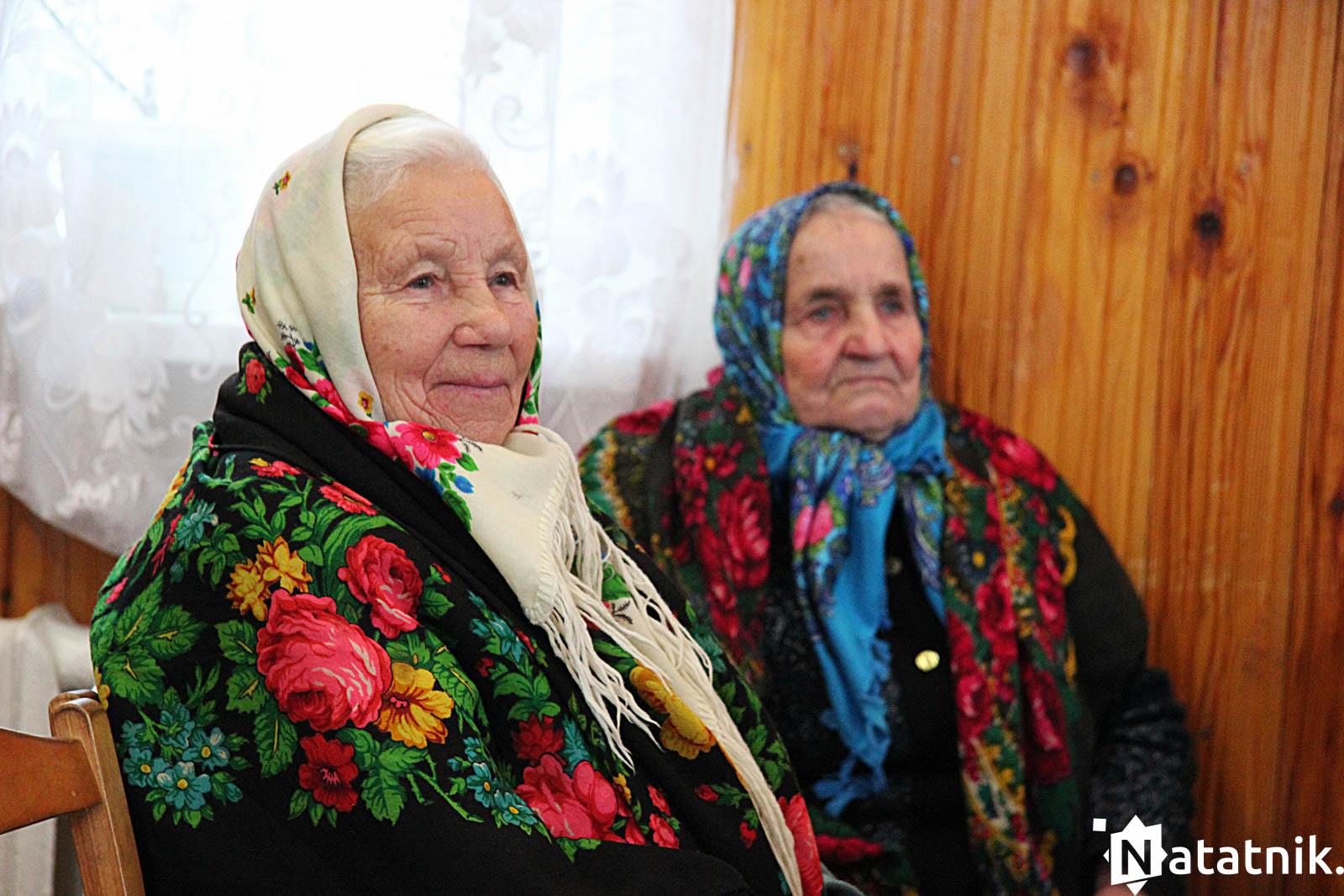 Ганна Канановіч і Таццяна Гарун на нядзельным сходзе